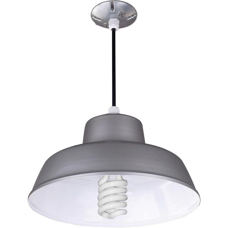 This canarm suspended ceiling barn light hangs from an cord to light your industrial agricultural building csa us approved for damp locations