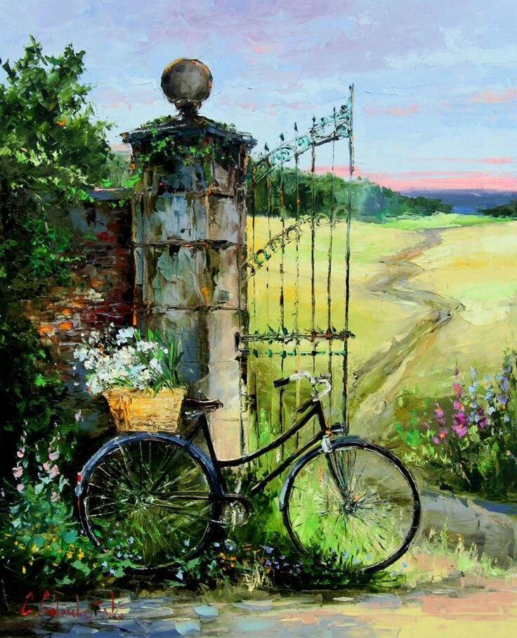 """Un hombre recorre El mundo entero En busca de lo Que le sirve Y vuelve a casa Para encontrarlo. """"George Augustus Moore"""" pintura de Gleb Goloubetski."""