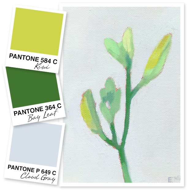 Get inspired by this color palette that evokes colors of a soft spring day.