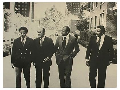 The Black Political Rat Pack: David Dinkins (New York's only Black Mayor), Basil Peterson, Percy Sutton, and Charles Rangel.