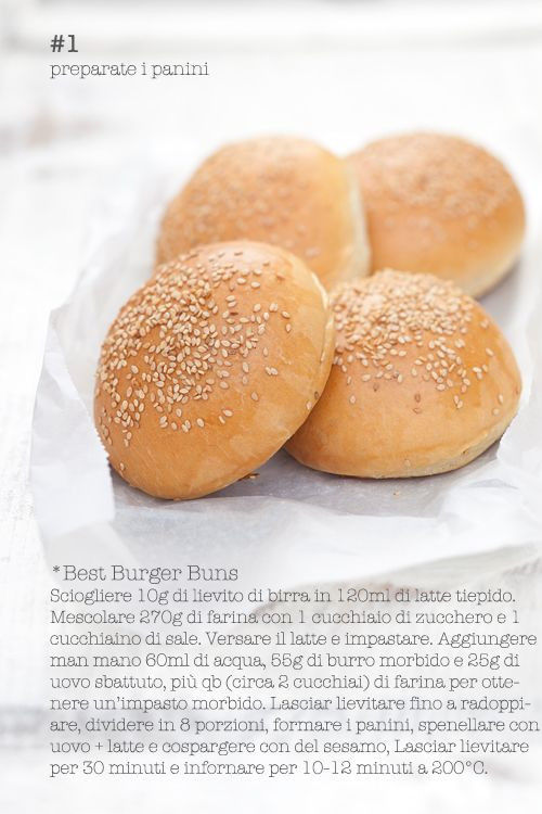 Ricetta panini da hamburger