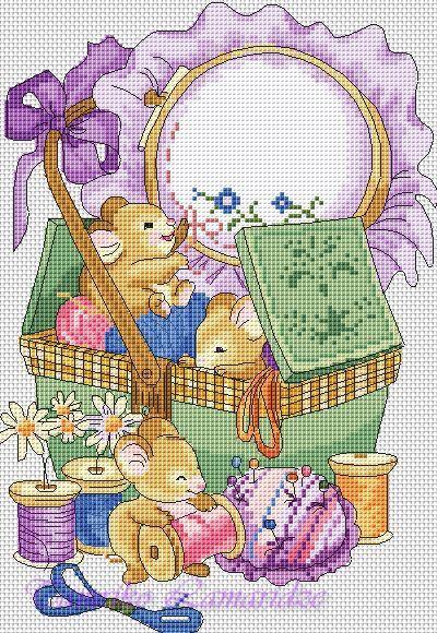 Gallery.ru / мышки вышивальщицы - Платные схемы - tamriko-lamara