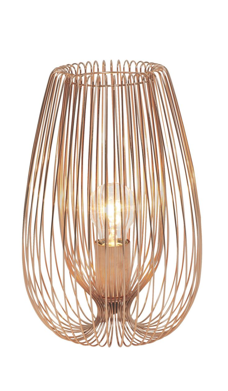 Jonas Copper Wire Table Lamp | not-available | DIY at B&Q