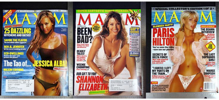 MAXIM 2003 November December 2004 April P. Hilton Shannon Elizabeth Jessica Alba
