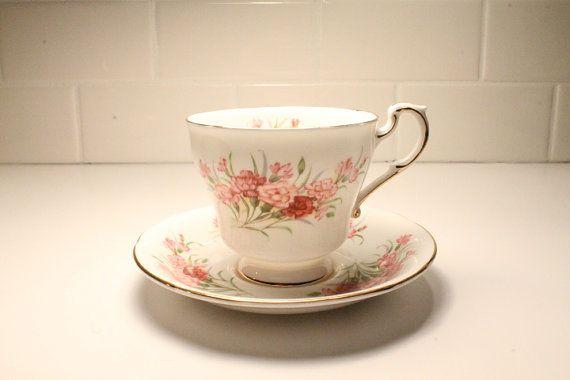 Paragon Carnation Tea Cup Tea Cup Tea Cup and by ClockworkRummage, $27.00