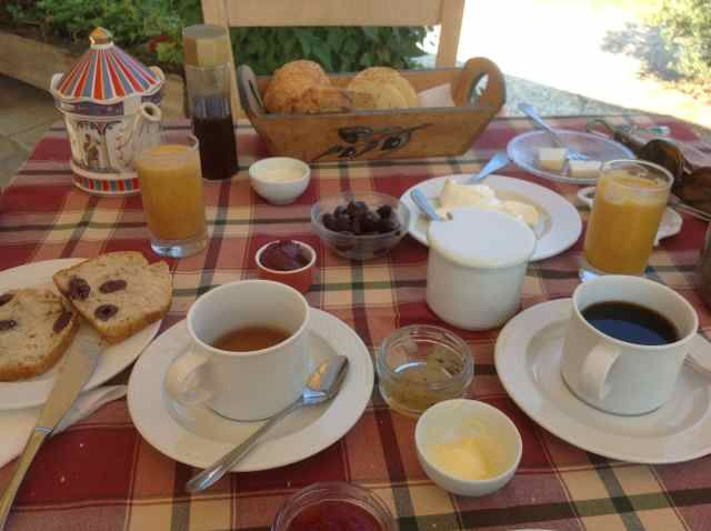 Breakfast at eleonas hotel under the olive trees