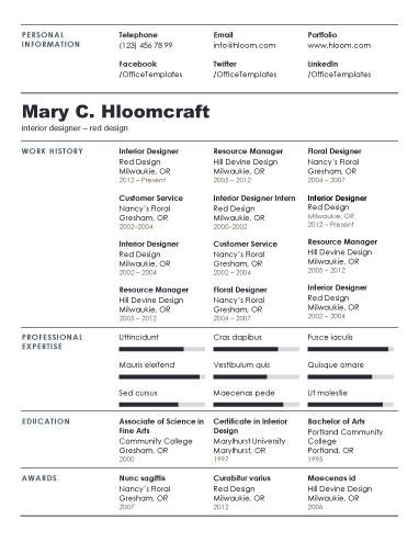 112 best Resume Templates images on Pinterest Free resume - generic resume