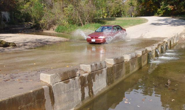 Park Road Water Crossing at Ledges State Park. #iowa