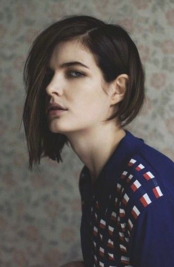 Peinado corto asimétrico