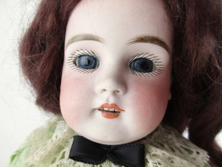 Late 1800s Doll - Kid Leather Body With Bisque Porcelain ...