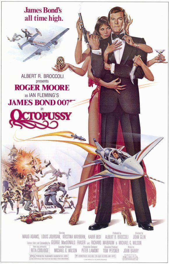 Octopussy (1983)  James Bond Poster https://www.youtube.com/user/PopcornCinemaShow