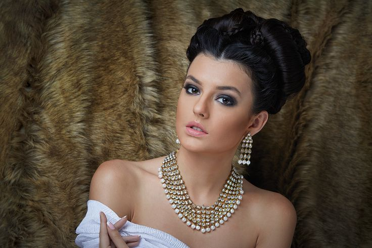5-Line Necklace with Uncut Polki stones in reverse setting and Pearls at Kushal's Fashion Jewellery