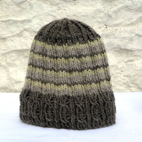 Hat handknit with homegrown wool naturally dyed by FormerlyFleece #Mütze