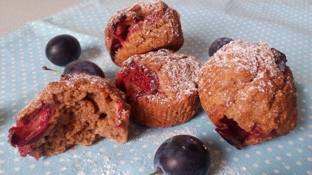 Egészséges teljes kiőrlésű muffin