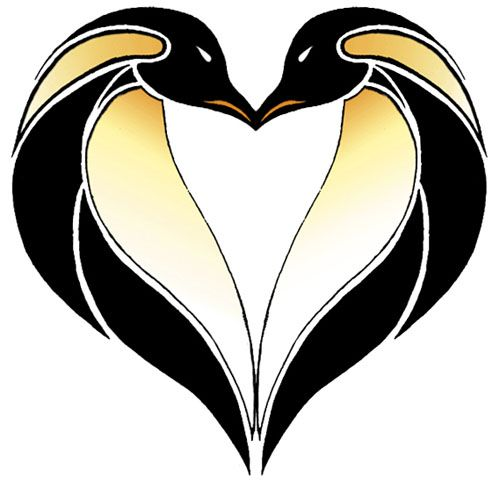 Kissing Penguin Tattoos   Tattoo Ideas Central