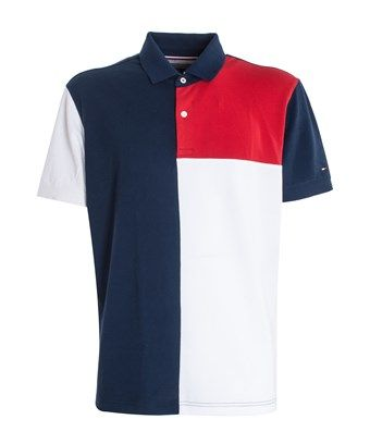 f922627f0 TOMMY HILFIGER TOMMY HILFIGER MEN'S MW0MW05156416 WHITE/BLUE COTTON POLO  SHIRT. #tommyhilfiger #cloth #