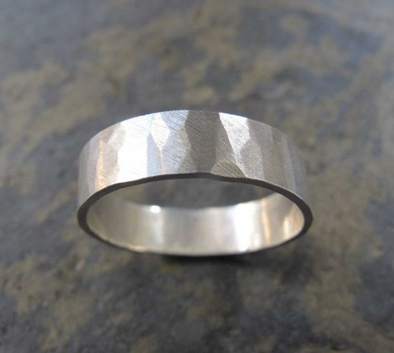 Handmade wedding ring by Heather Stephens jewellery https://www.etsy.com/uk/listing/271765776/mens-wide-hammered-ring-mens-hammered