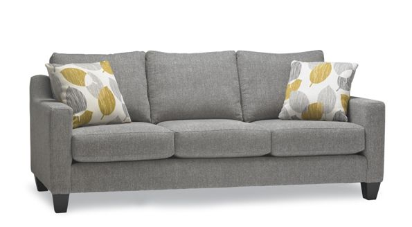 SMALL SECTIONAL - SLIGHTLY TAPERED LEGS Stylus Made to Order Sofas : hand built sofas