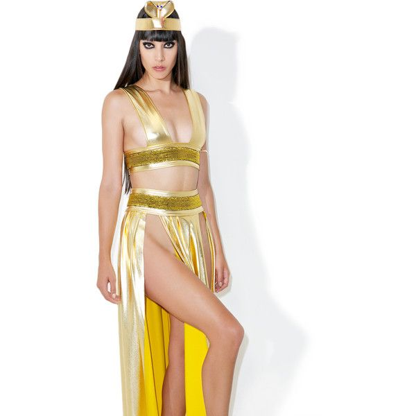 Sexy Cleopatra Costume ($75) ❤ liked on Polyvore featuring costumes, sexy costumes, sexy halloween costumes, white queen halloween costume, white queen costume and sexy cleopatra halloween costume