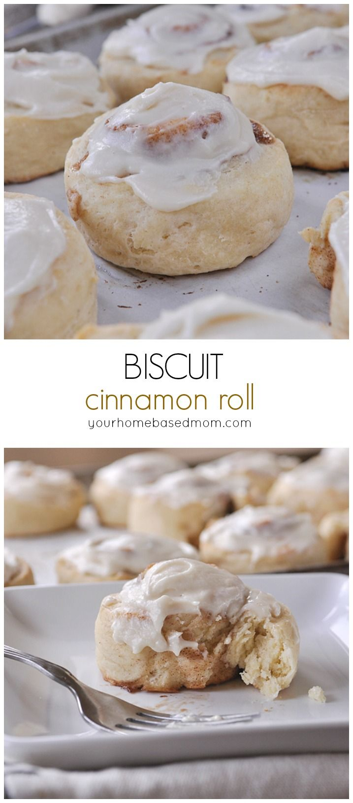 Biscuit Cinnamon Rolls are so easy to make and such a fun twist on traditional cinnamon rolls