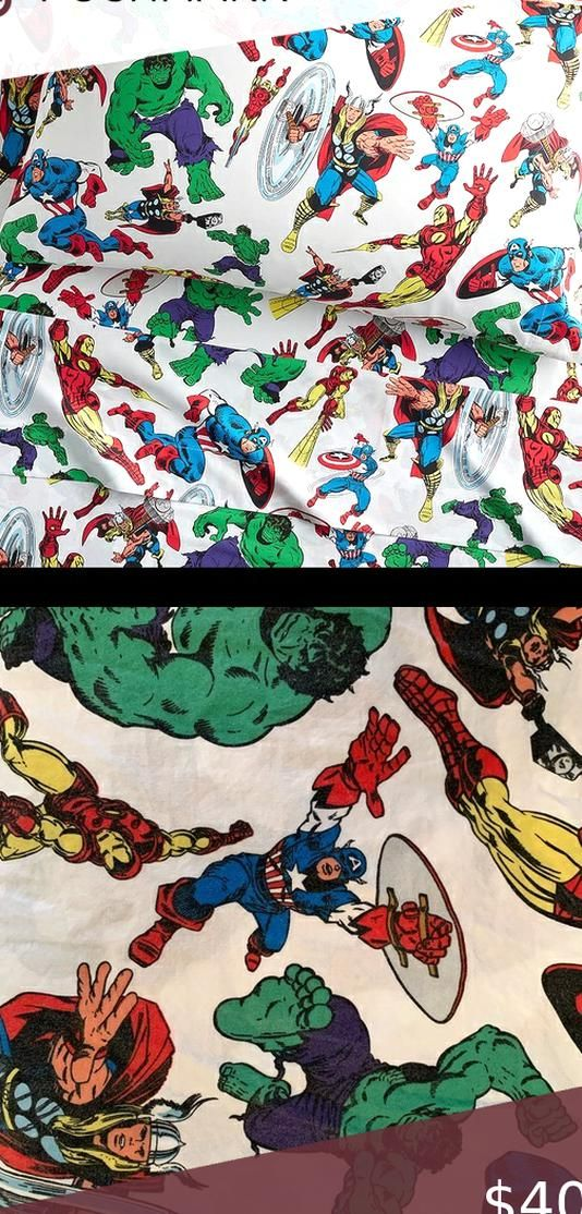 Avengers queenfull bed sheet set Queenfull size Pottery