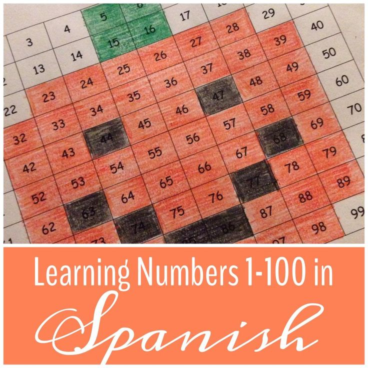 Using Mystery Pictures to Teach Numbers in Spanish (Hundreds Chart)