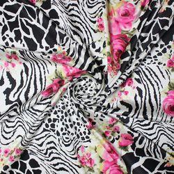buy digital print quality elastic silk satin fabric for dress clothes diy