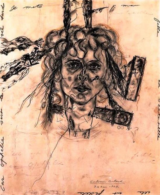 Antonin Artaud. Paule aux ferrets (Portrait de Paule Thevenin) 1947