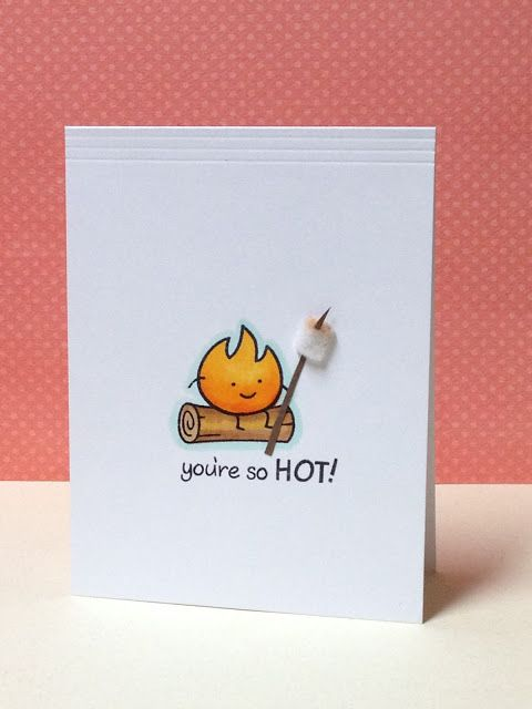 You're So Hot - Valentine's card by Donna Mikasa