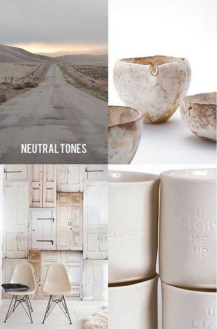 neutral tones * See more inspirations at http://www.brabbu.com/en/inspiration-and-ideas/ #MoodBoardIdeas