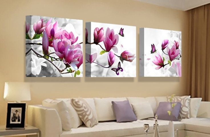Nice 3 pcs Print poster canvas Wall Art  Flower Decoration art Modular pictures on the wall sitting room no frame 70cmx70cmx3pcs