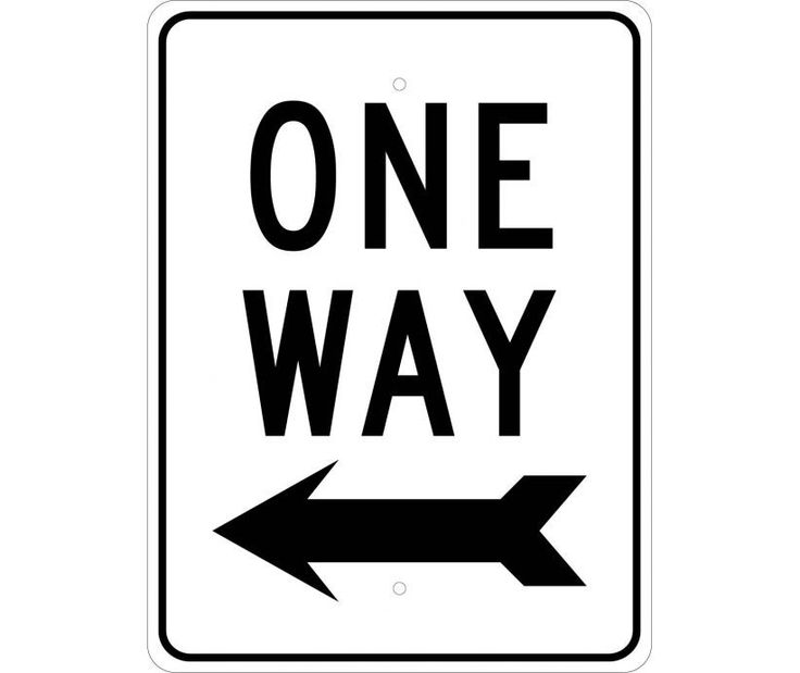 ONE WAY (W/LEFT ARROW), 24X18, .080 EGP REF Aluminum