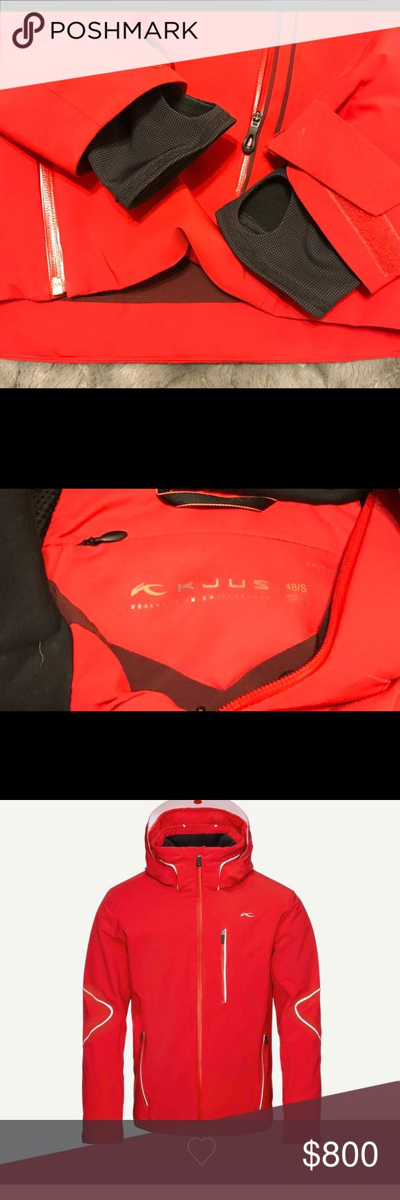 KJUS Formula Jacket KJUS jacket. ThermoCore /AC vent Technology. Only worn twice. Great price. If you know about KJUS then this jacket needs no explanation. Please no low offers. Size is a 48 S but that is Euro size.  Fits like an American Medium.  Feel free to Contact me if you have any questions. KJUS Jackets & Coats Ski & Snowboard
