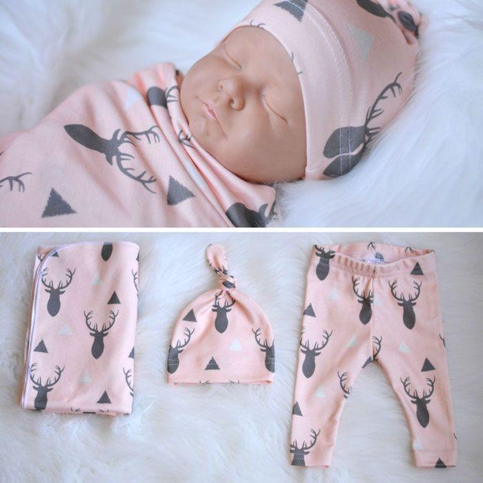 Newborn Baby Buckprint Set