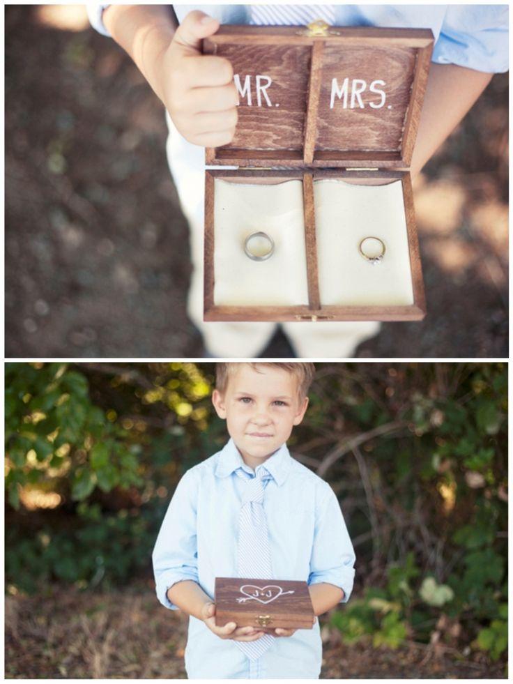DIY Personalized Wooden Ring Bearer Box.   Super adorable idea! I'm a fan :-)