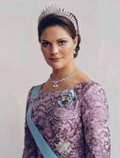 Наследная принцесса Виктория. Швеция,  г.р.  1977.