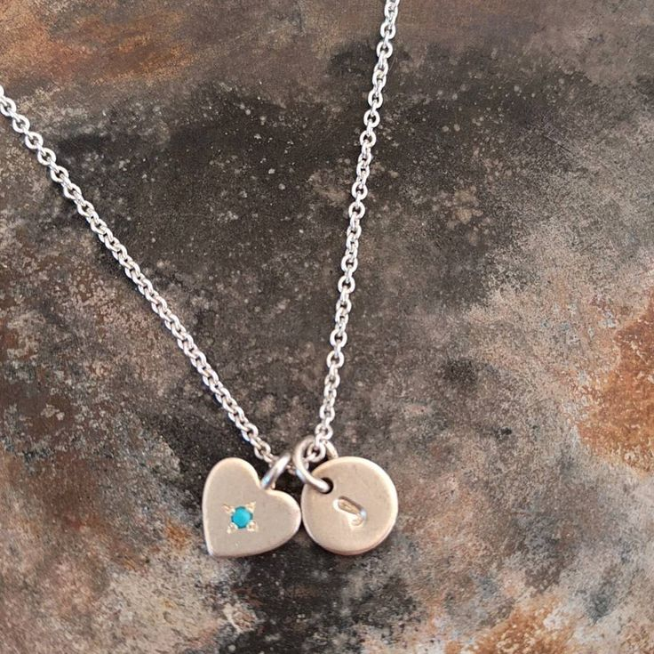 Personalised Turquoise Heart Necklace
