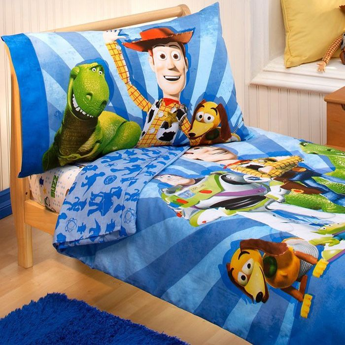 Toy Story Buzz Woody 4 Piece Toddler Bedding Set