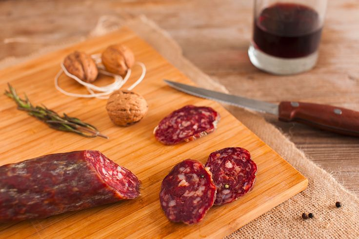 #Venison meat magically rolled up into a dainty #salami!