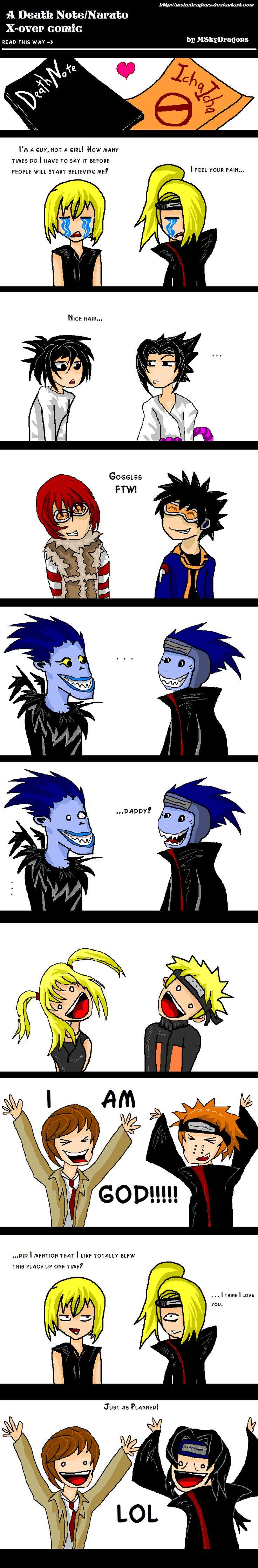 Naruto + Death Note CrackComic by MSkyDragons.deviantart.com