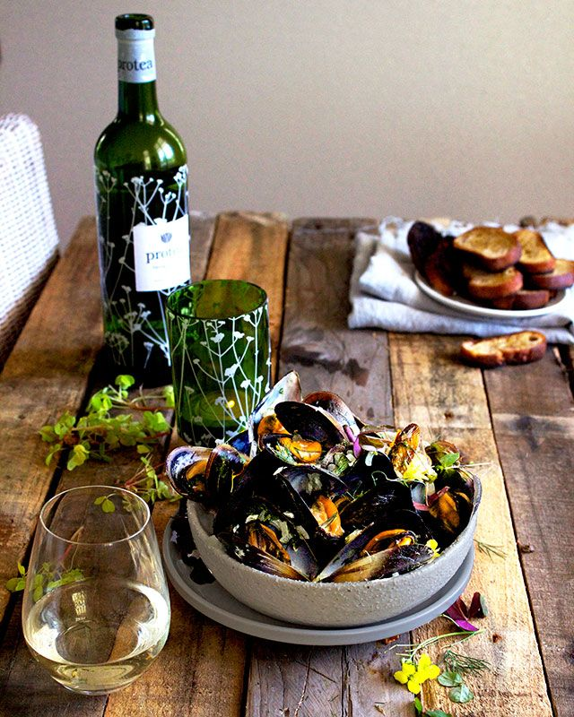 Springtime Moules Mariniere with Sorrel and Dill