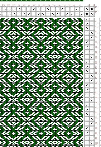 Hand Weaving Draft: Page 137, Figure 12, Donat, Franz Large Book of Textile Patterns, 8S, 8T - Handweaving.net Hand Weaving and Draft Archiv...