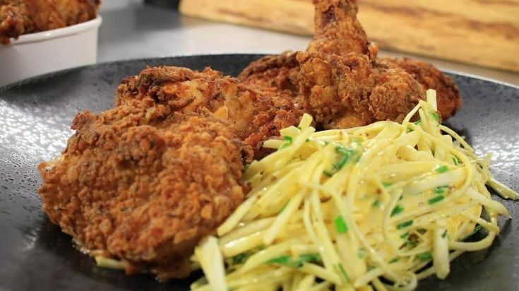 Southern fried chicken with celeriac remoulade