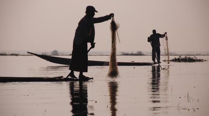 Fiskere på Inle søen