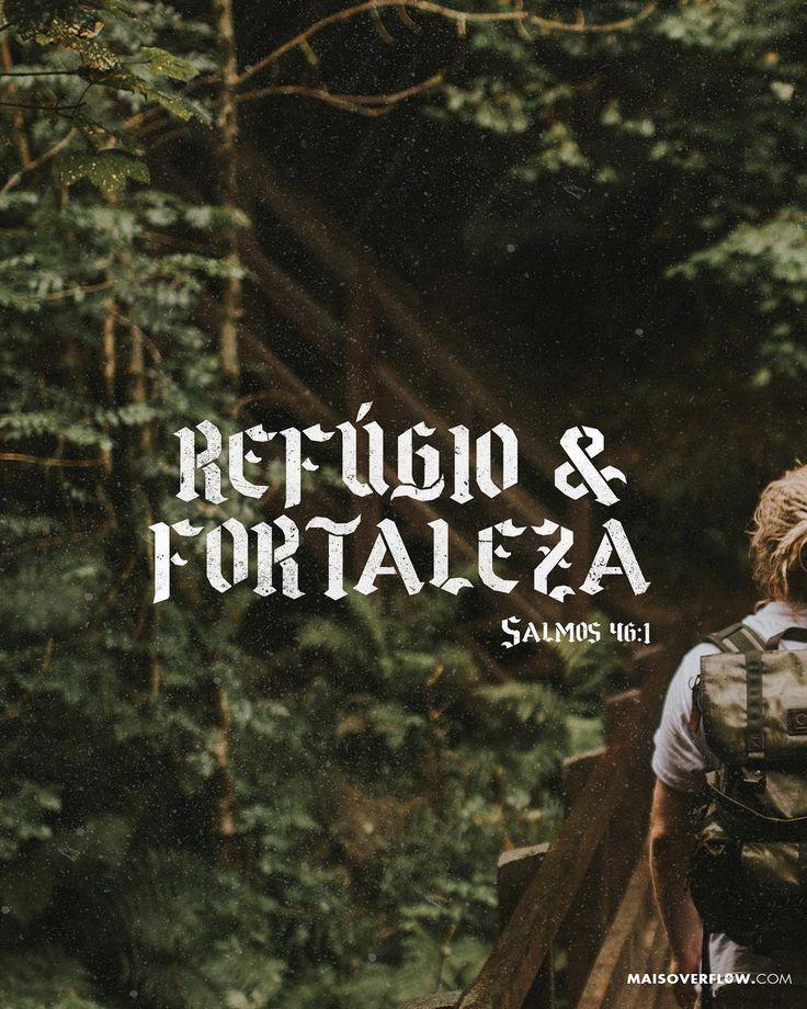 Deus é o nosso refúgio e fortaleza socorro bem presente na angústia. - Salmos 46:1  #30daysofbiblelettering  X