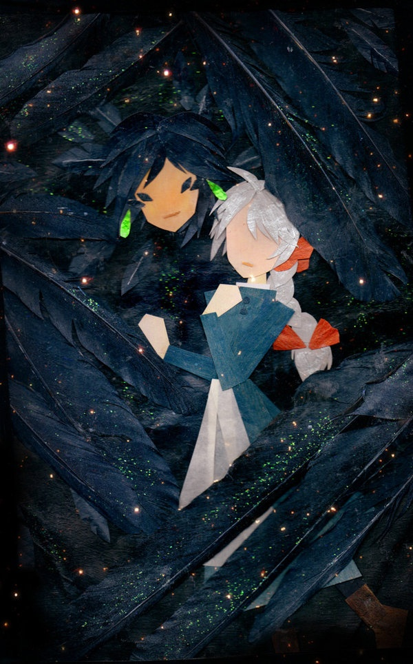 "Howl's Moving Castle paper art. ""Embrace"" by botjira"