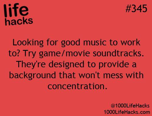 Life Hacks # 345 - Work Music