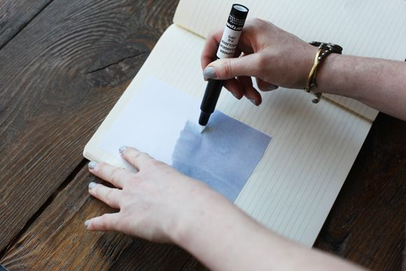 Photo transfer onto journal