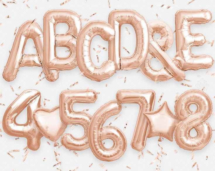 Rose Gold Letters Numbers Foil Balloon Confetti Png Etsy Balloons Foil Balloons Gold Letters