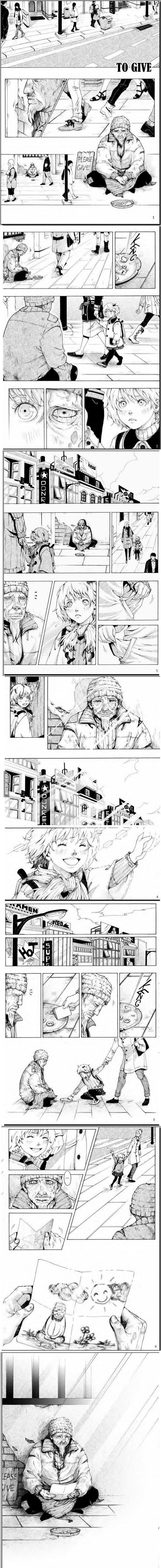 Cute and so sad T.T  Manga from unknown writer. (Read from Right to left)